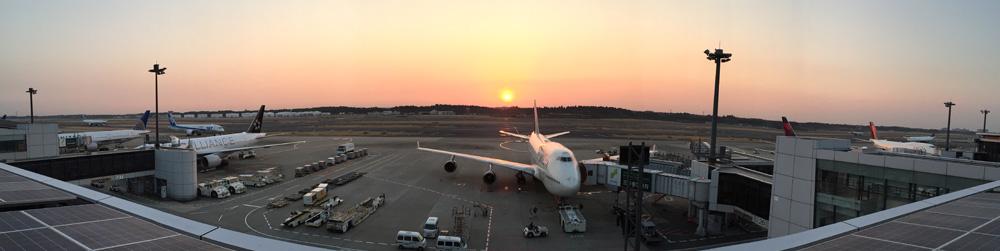 成田空港のパノラマ写真