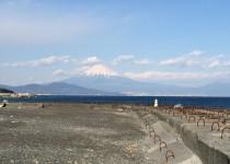 三保の松原から見える富士山