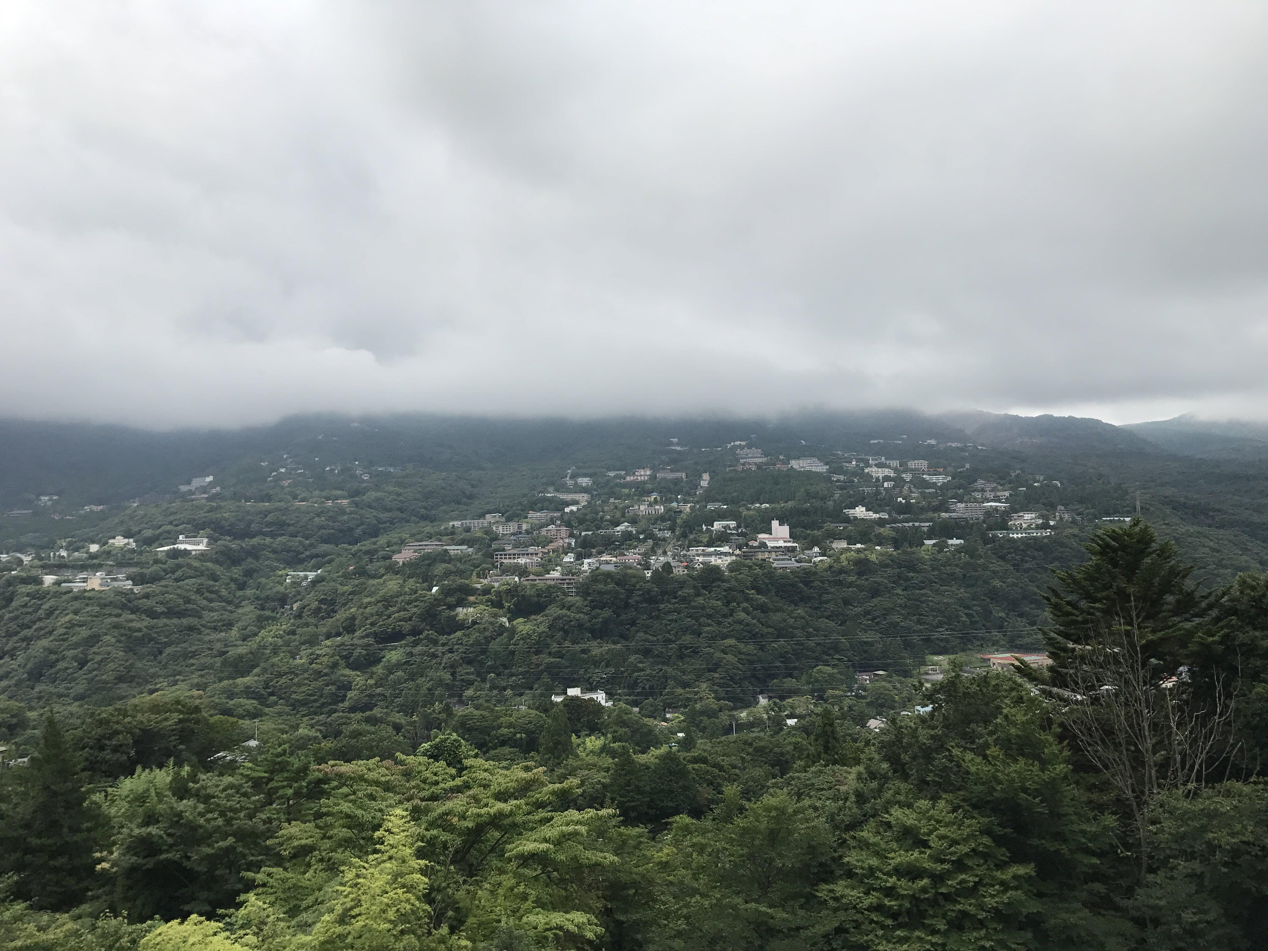 強羅の高台から撮った風景